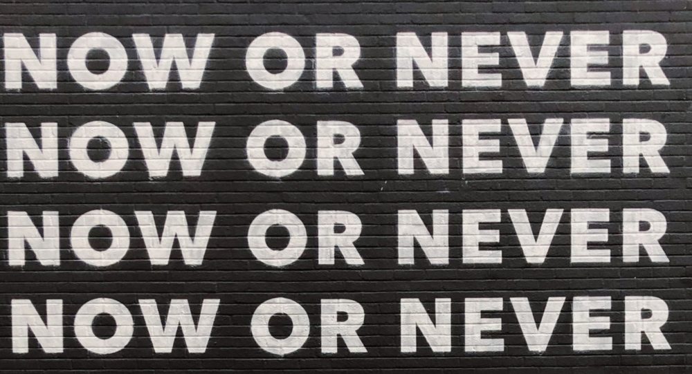 Slogan: Now or Never